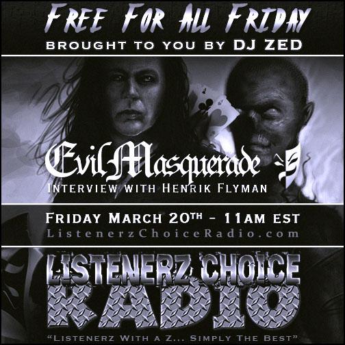 Listenerz Choice Radio - DJ ZED - Henrik Flyman - Evil Masquerade