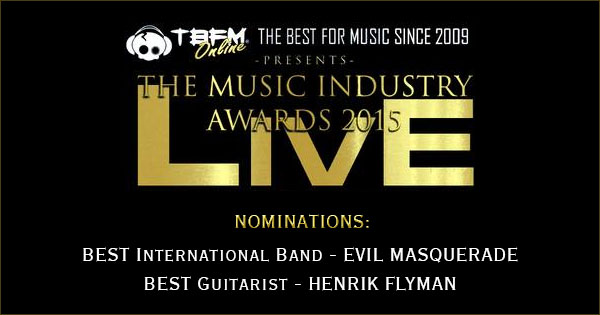TBFM Music Industry Awards nominations Evil Masquerade + Henrik Flyman